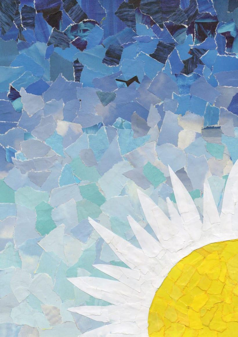 Be Flower (Collage con revistas y papeles reciclados) 0