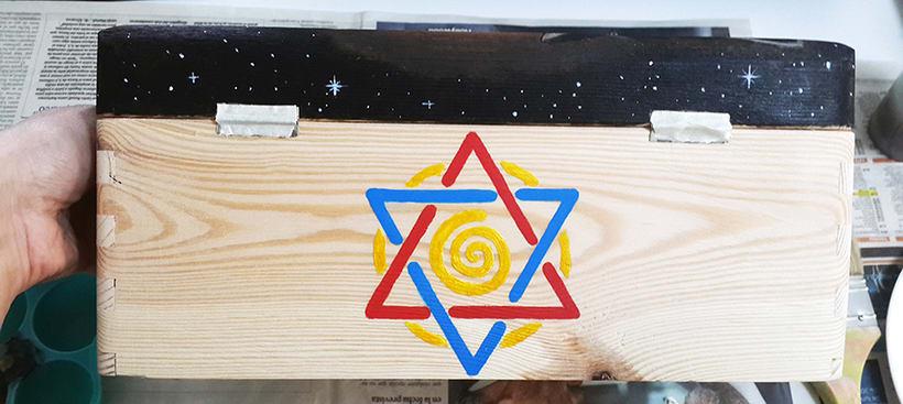 Retrato en caja de madera 12