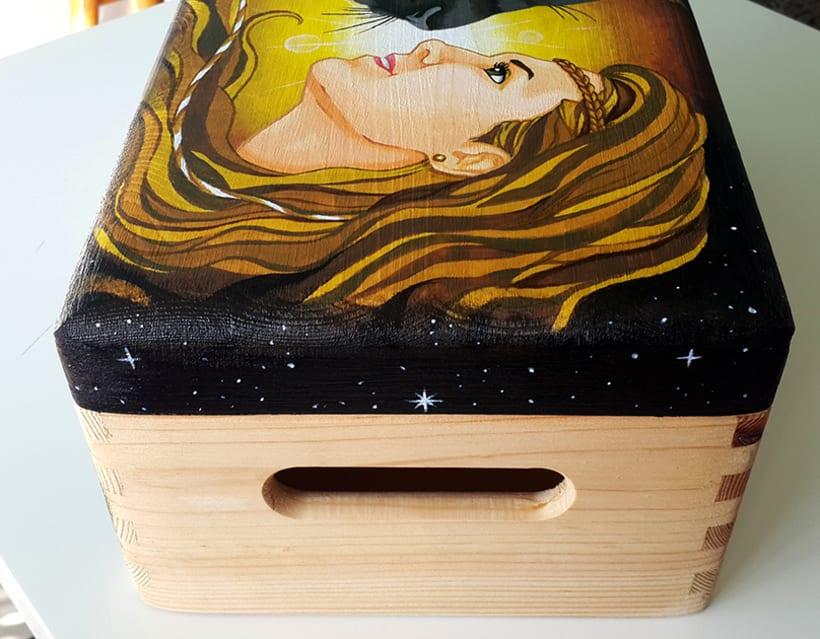 Retrato en caja de madera 10