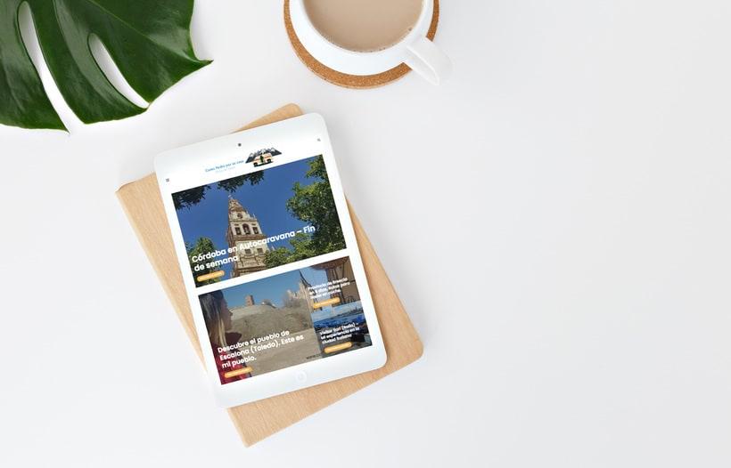 Diseño Web Blog de Viajes -1
