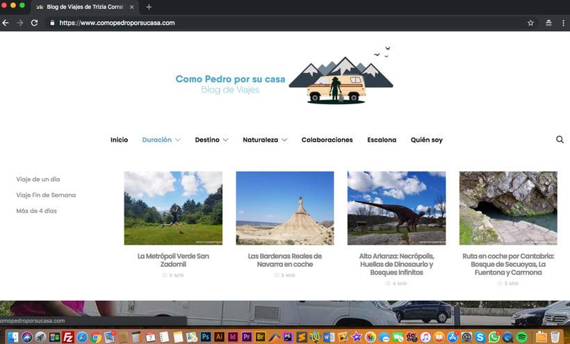 Diseño Web Blog de Viajes 0