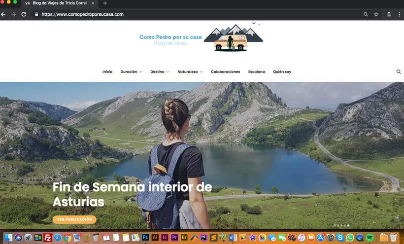 Diseño Web Blog de Viajes 1