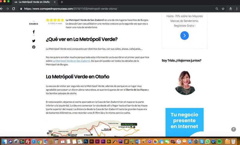 Diseño Web Blog de Viajes 3