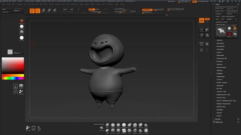 Mi Proyecto del curso: Creación de personajes con ZBrush y Cinema4D 4