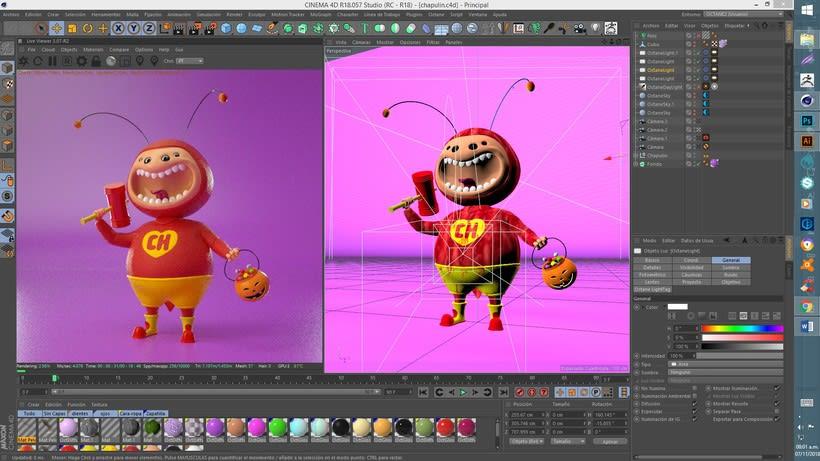 Mi Proyecto del curso: Creación de personajes con ZBrush y Cinema4D 5