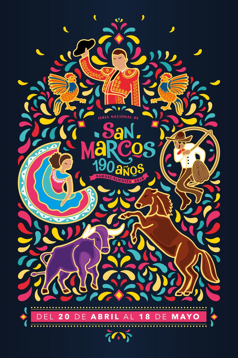 Cartel Feria Nacional de San Marcos 2018 0