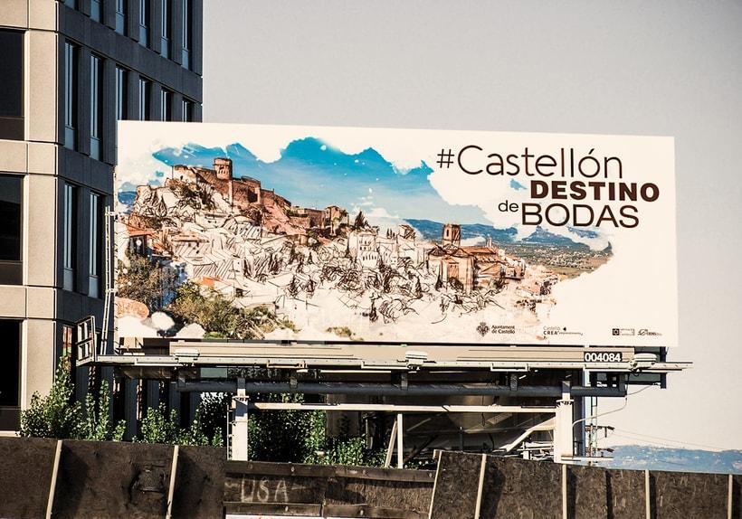 """""""Castellón destino de bodas"""" campaña publicitaria ficticia 1"""