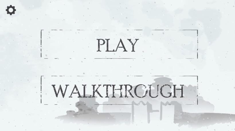 """Winter is coming"" maqueta videojuego interactivo 1"