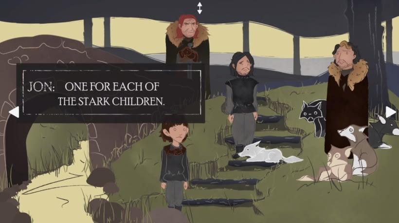 """Winter is coming"" maqueta videojuego interactivo 3"