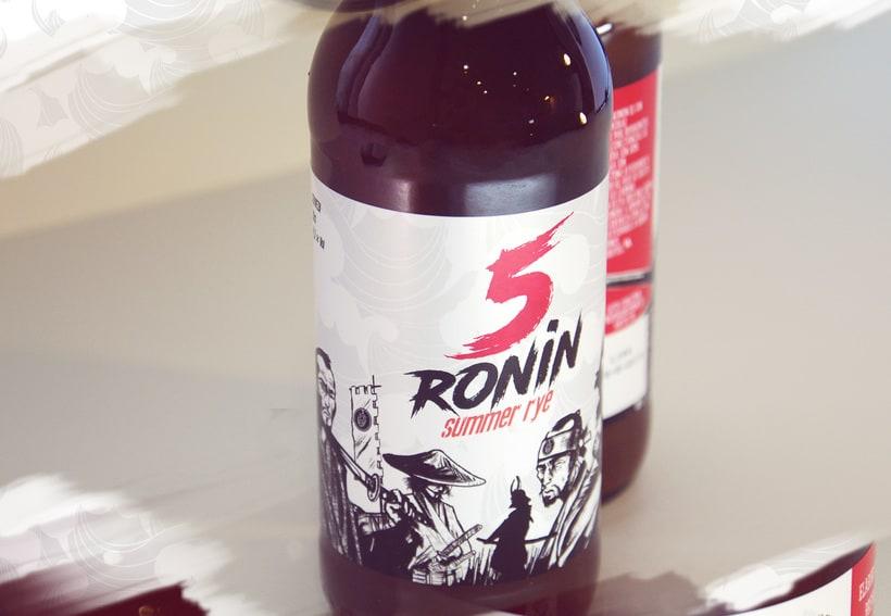 """5 Ronin Craft Beer / Diseño de logo y etiquetas para la cerveza artesana """"5Ronin"""" 8"""