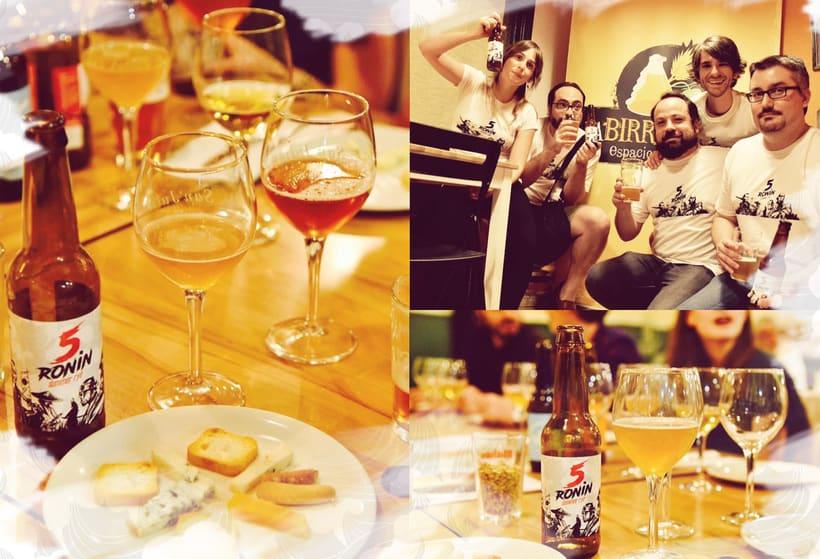 """5 Ronin Craft Beer / Diseño de logo y etiquetas para la cerveza artesana """"5Ronin"""" 10"""
