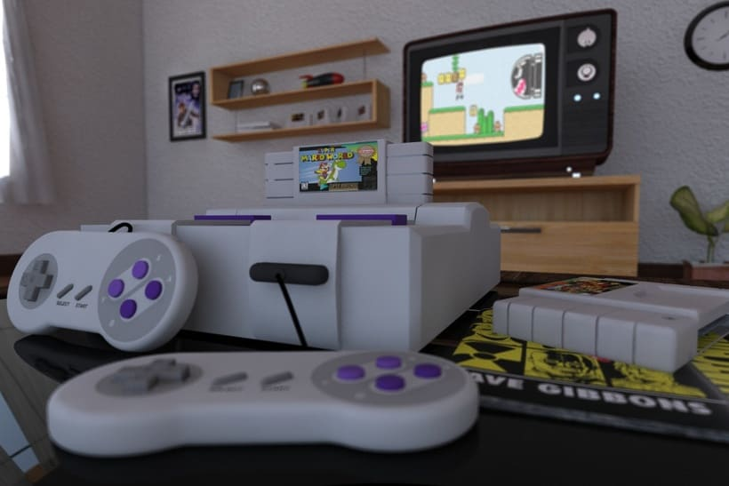 SNES Cinema 4D Vray Projects 1