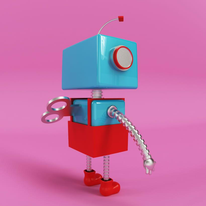 Robot 3D Model 0