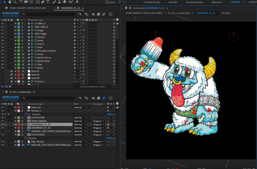 CRATE CREATURES. Serie animada para GIOCHI PREZIOSI 2