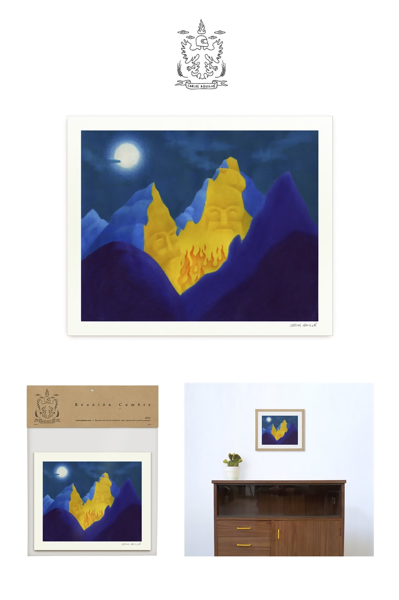"Ilustración ""Reunión Cumbre"" packaging 0"