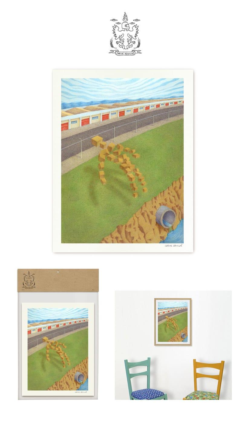 """Ilustración """"Levitación en zona industrial"""" packaging 0"""
