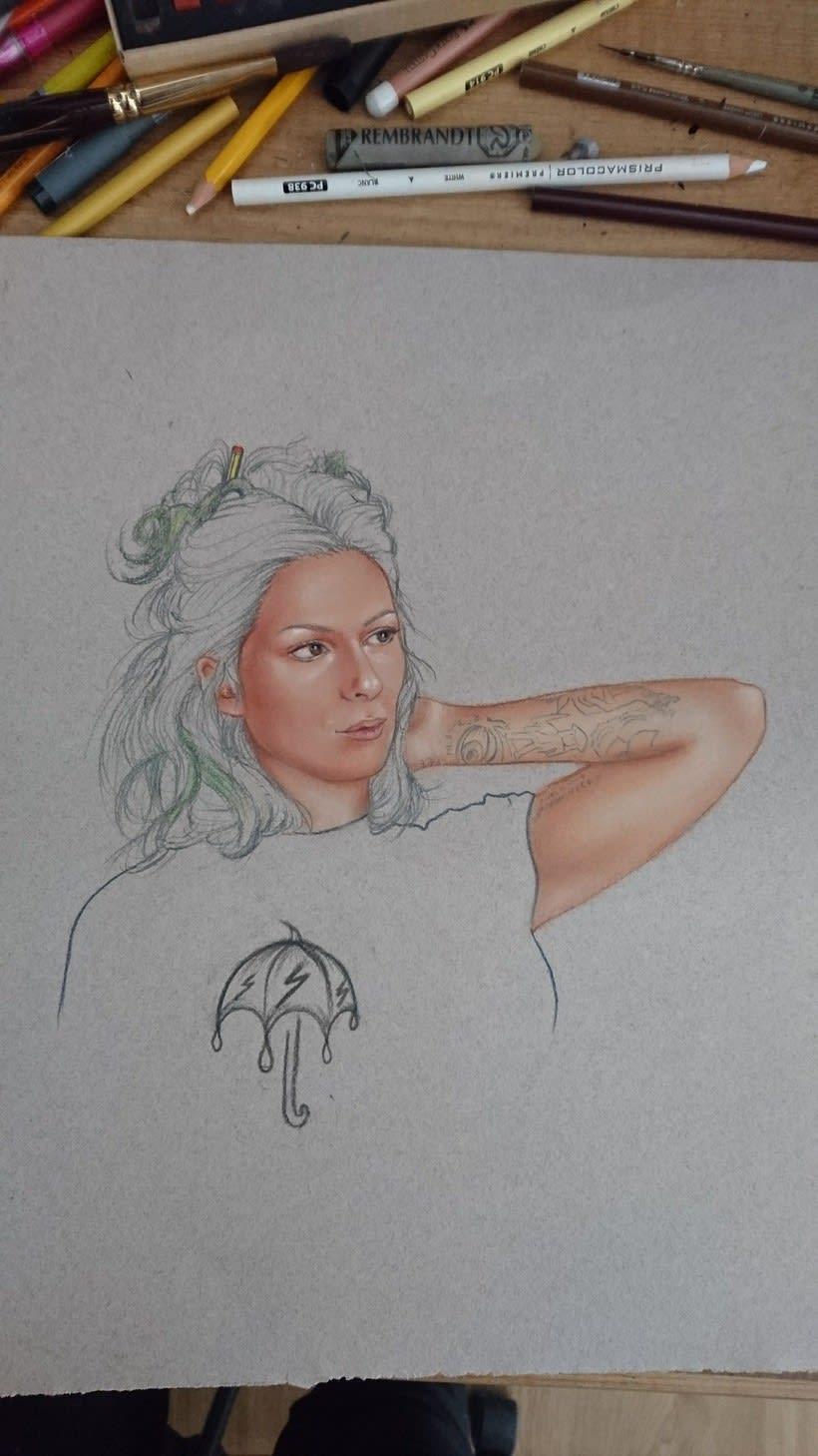 Mi Proyecto del curso: Ilustración con pastel y lápices de colores 5
