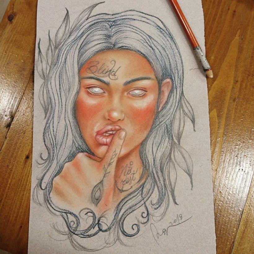 Mi Proyecto del curso: Ilustración con pastel y lápices de colores 6