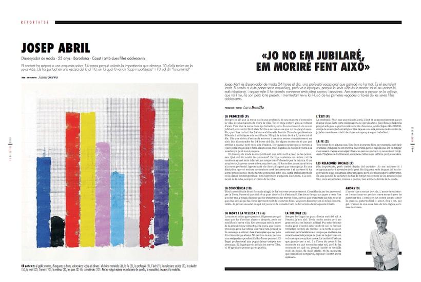 Uno de cien. Serie de retratos infográficos 13