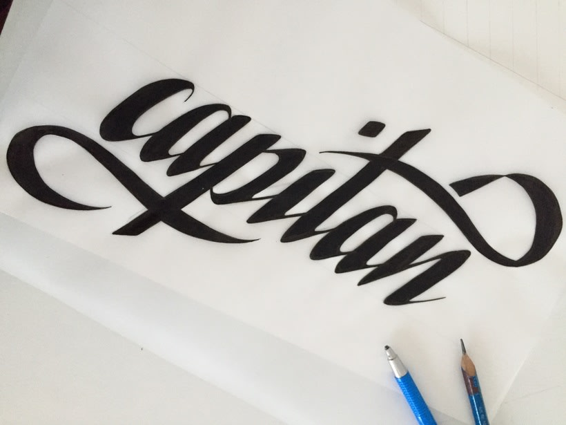 Capitán lettering 3