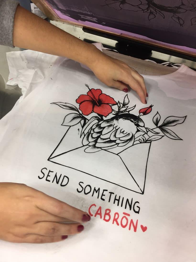Send something cabrón (Serigrafía) 2