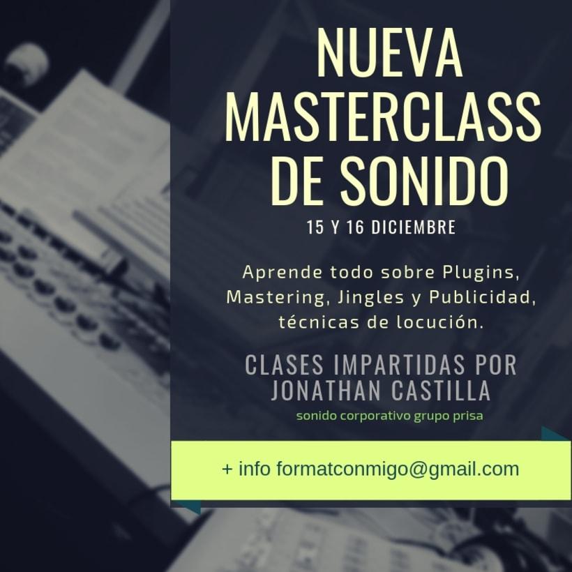 Master Class de sonido para radio profesional.  0