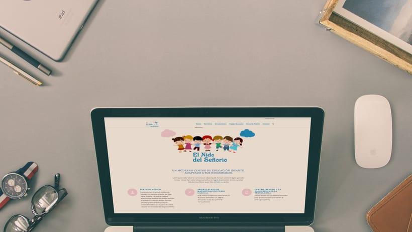 Creación identidad corporativa   logo   web de Escuela infantil  4