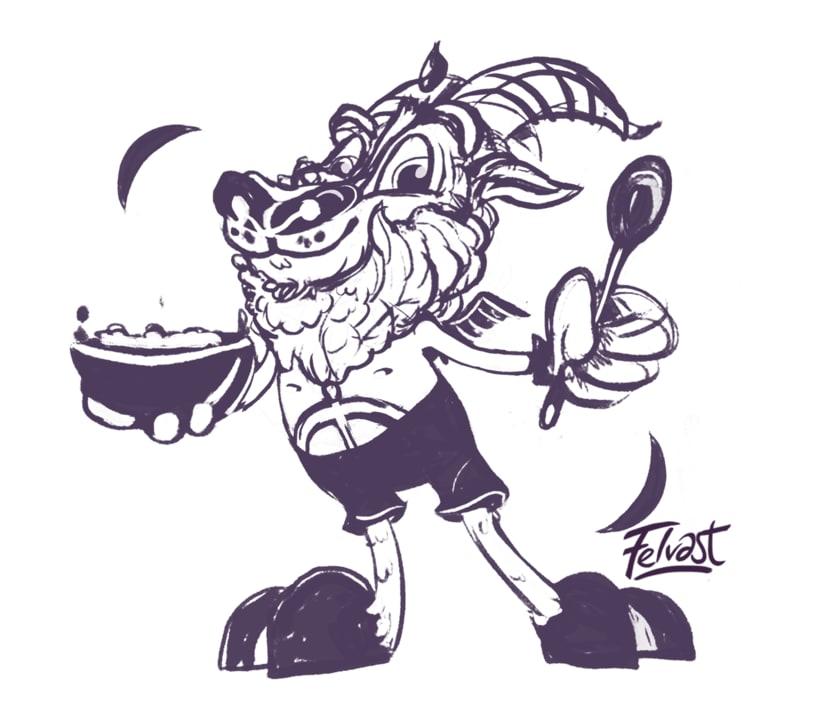 Mi Proyecto del curso:  Aleister Bafomet de Pagan-oh´s (Diseño e ilustración de personajes increíbles) 4