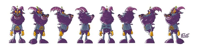 Mi Proyecto del curso:  Aleister Bafomet de Pagan-oh´s (Diseño e ilustración de personajes increíbles) 8