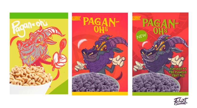 Mi Proyecto del curso:  Aleister Bafomet de Pagan-oh´s (Diseño e ilustración de personajes increíbles) 12