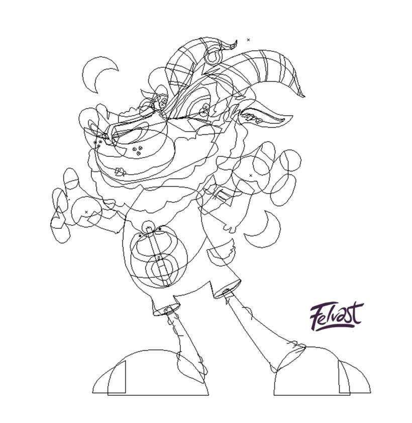 Mi Proyecto del curso:  Aleister Bafomet de Pagan-oh´s (Diseño e ilustración de personajes increíbles) 16