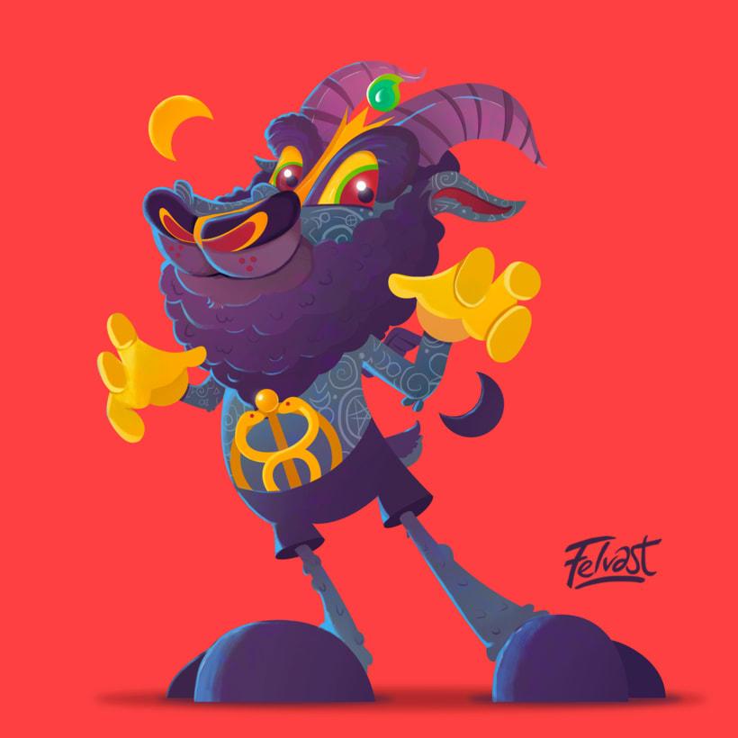 Mi Proyecto del curso:  Aleister Bafomet de Pagan-oh´s (Diseño e ilustración de personajes increíbles) 22