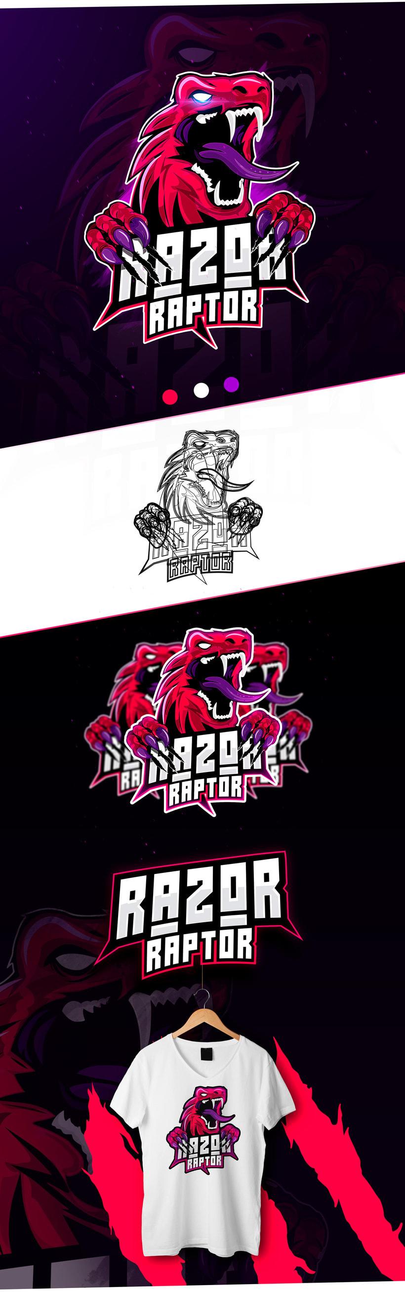 Logo Mascot Razor Raptor by Oscar Creativo -1