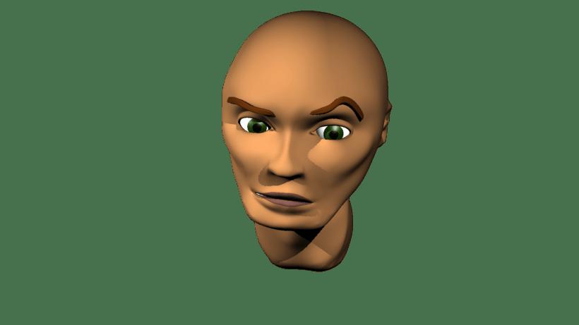 Mi Proyecto del curso: Rigging: articulación facial de un personaje 3D 2