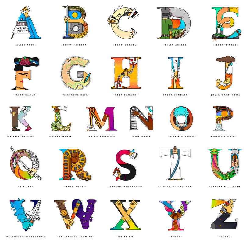 El alfabeto que homenajea a grandes mujeres de la historia 9