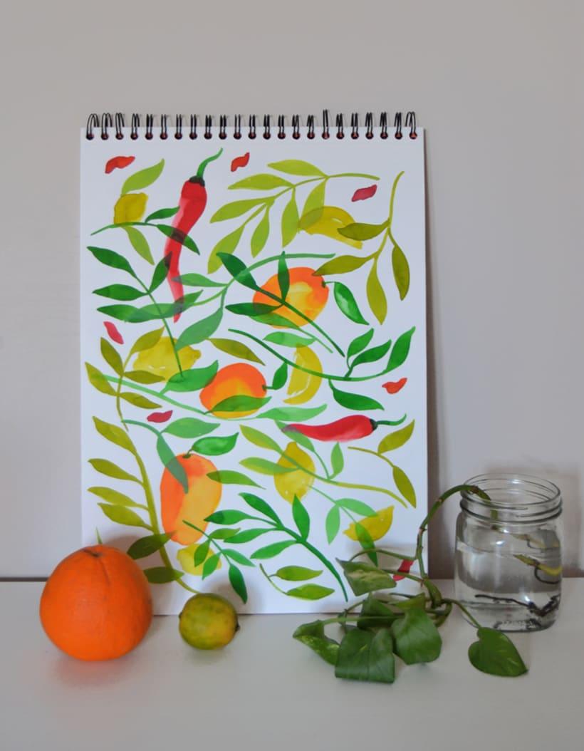 Diseño de estampados para packaging de té 7