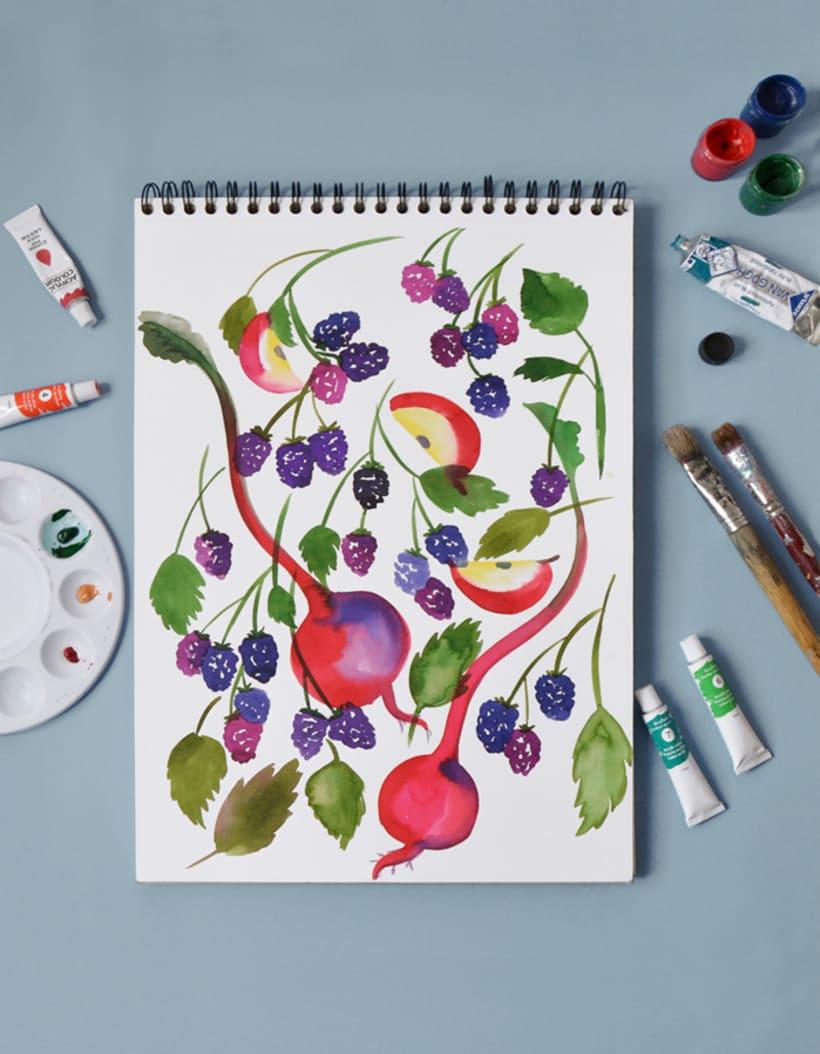 Diseño de estampados para packaging de té 6