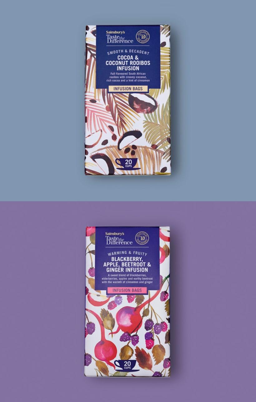 Diseño de estampados para packaging de té 11