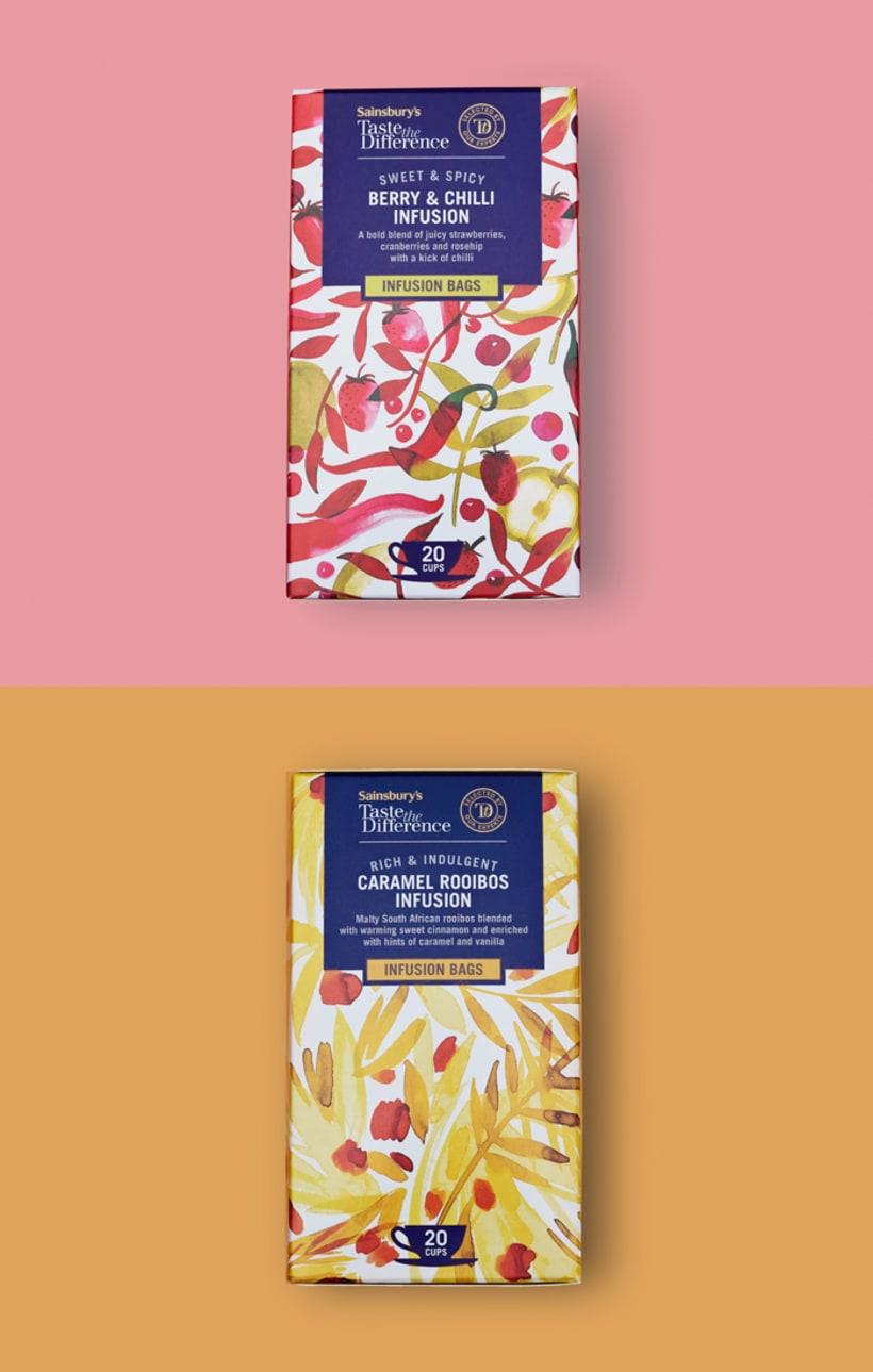 Diseño de estampados para packaging de té 12