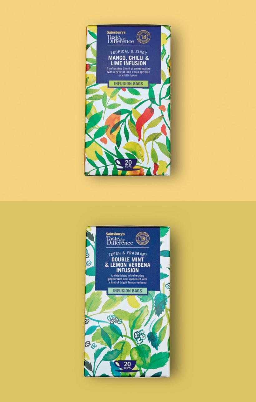 Diseño de estampados para packaging de té 14