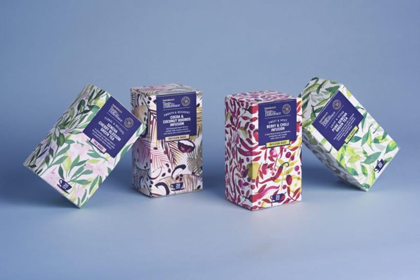 Diseño de estampados para packaging de té 2