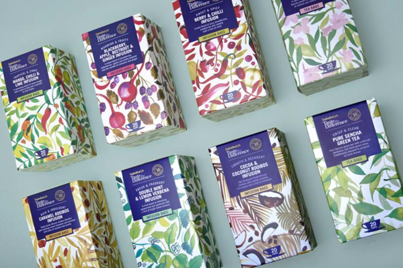 Diseño de estampados para packaging de té 4