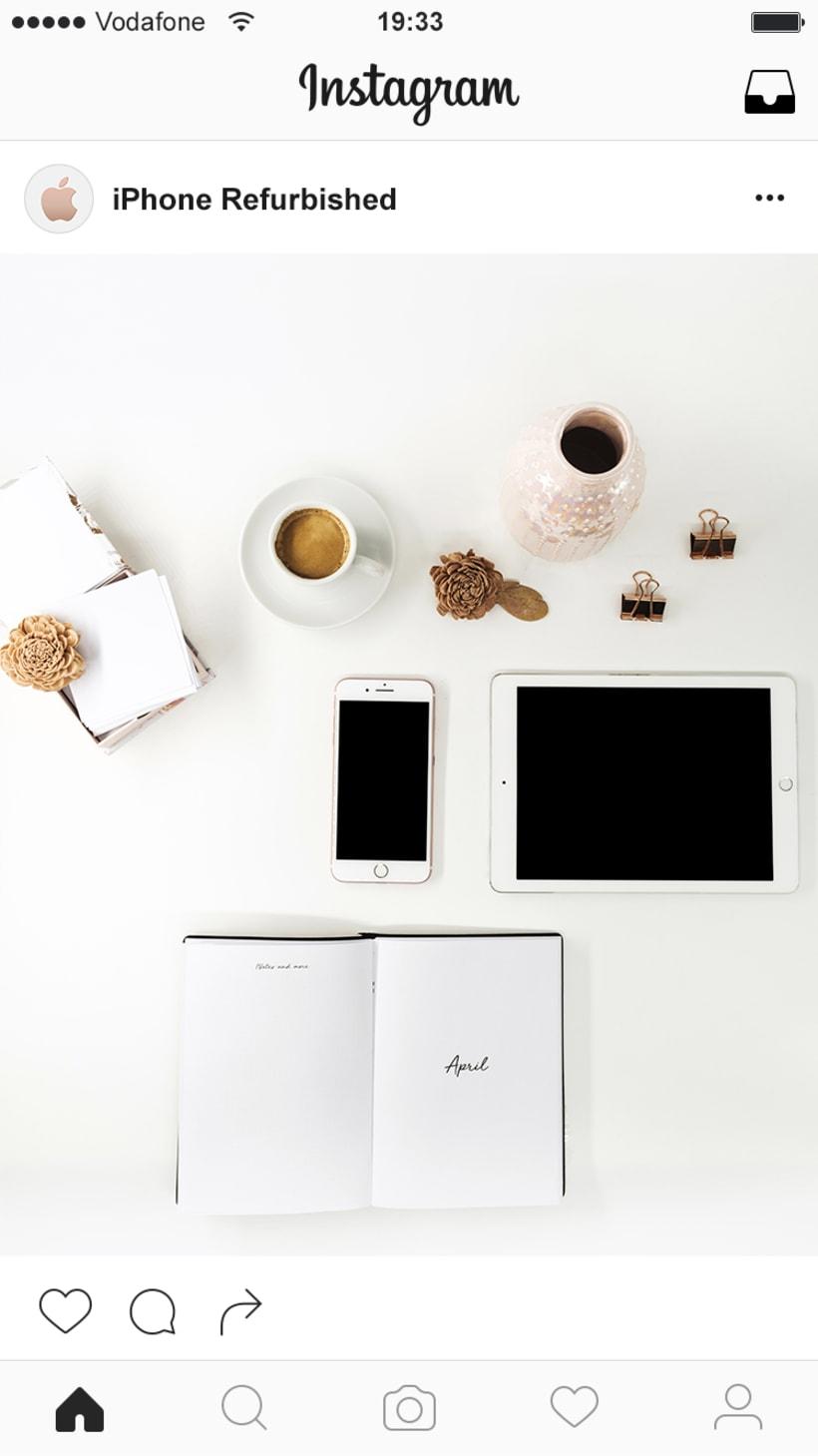 Fotografía para instagram: Productos reacondicionados 9