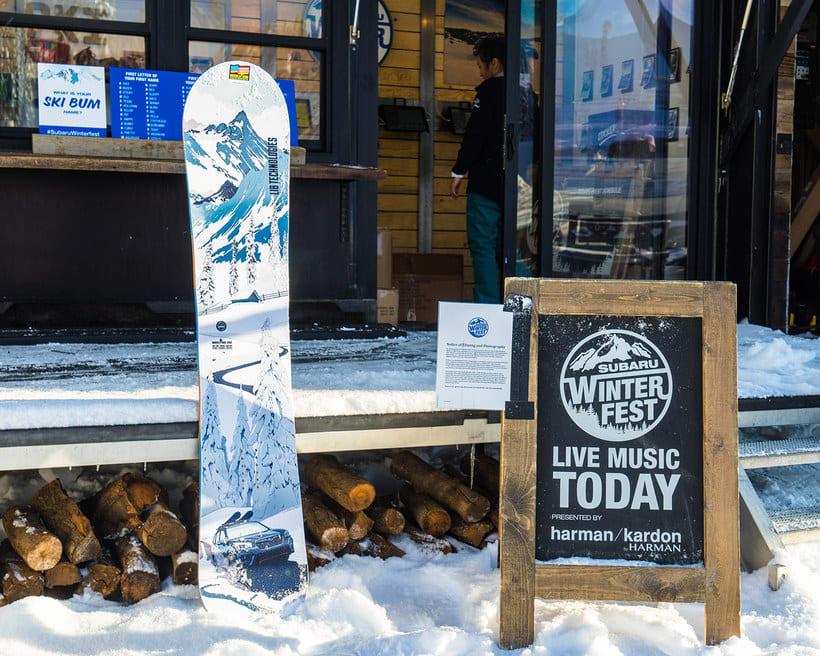 Tabla de Snow para el Subaru Winter Fest 5
