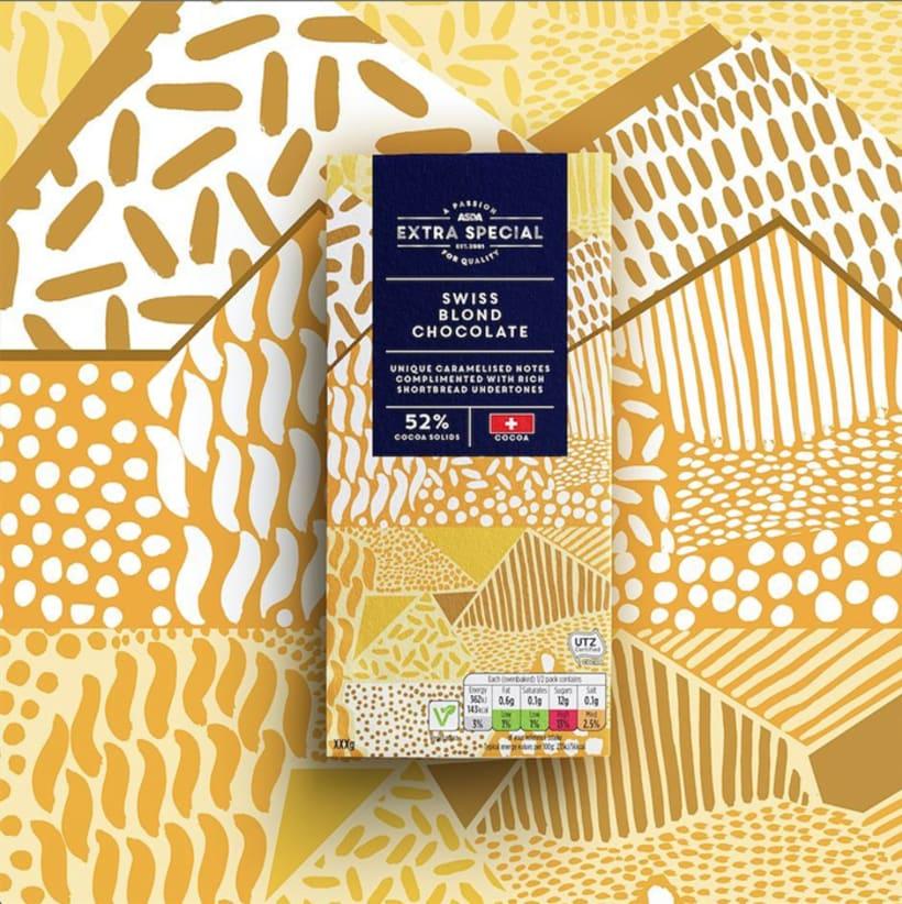 Diseño de estampados para packaging de chocolate 6