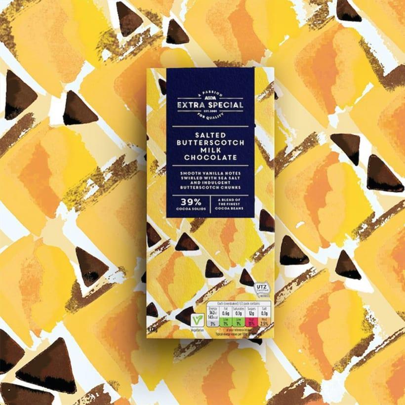 Diseño de estampados para packaging de chocolate 8