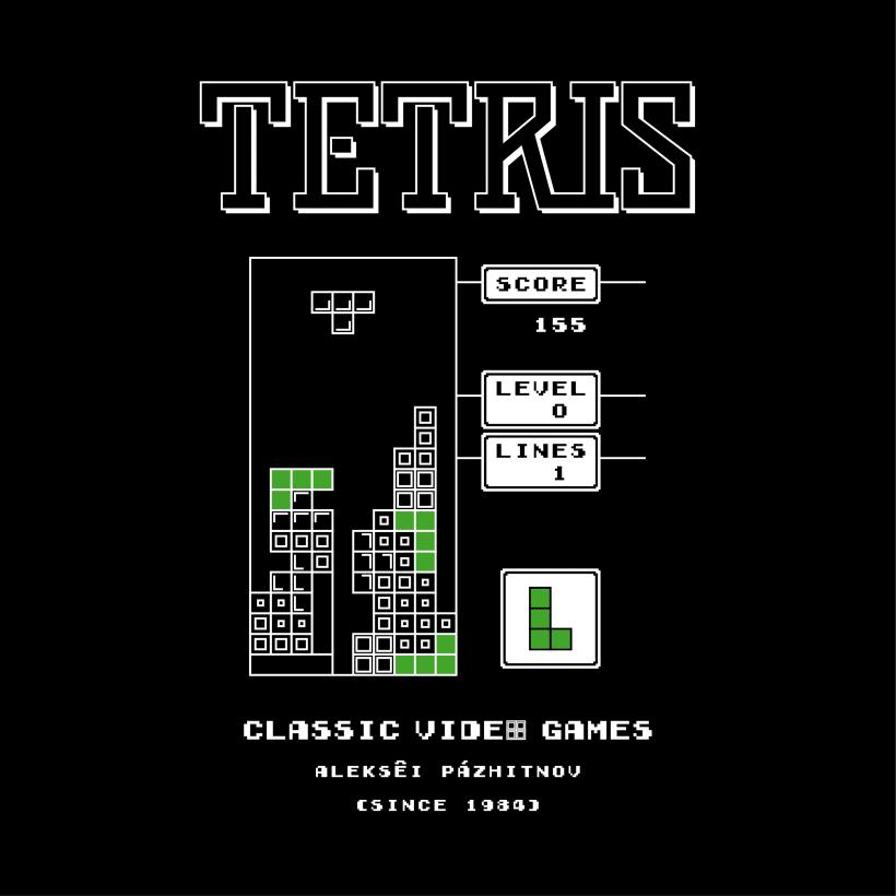 CLASSIC VIDEO GAMES TETRIS | Domestika