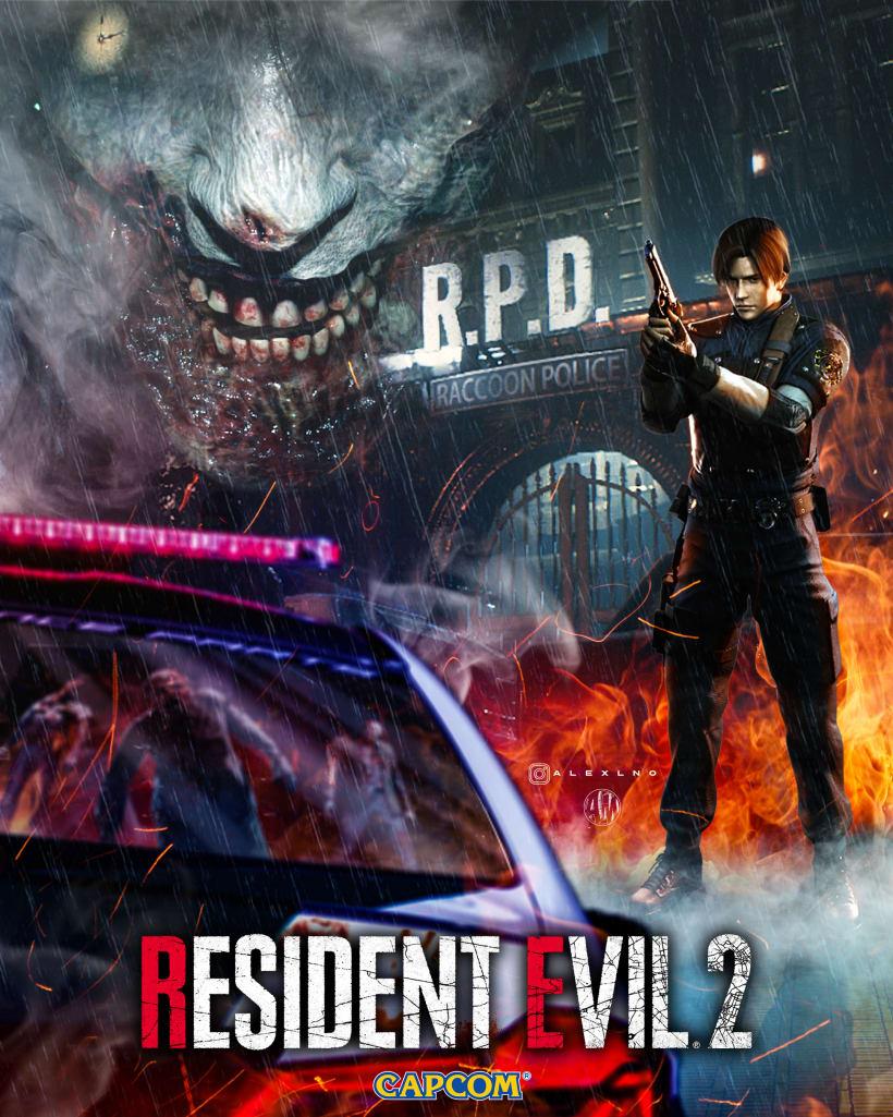 Resident Evil 2 Remake Fan Made Poster Domestika