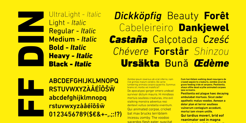 Poster: FF DIN | Domestika