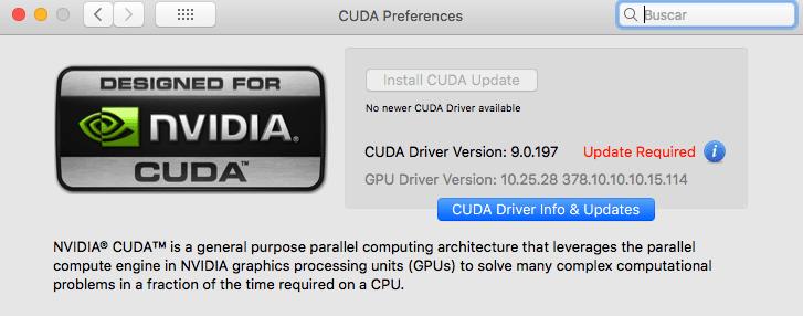 Problema CUDA + High Sierra | Informática | Domestika